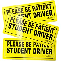 CARBATO Student Driver Magnet Safety Sign Vehicle Bumper Magnet - Car Vehicle Reflective Sign Sticker Bumper for New…