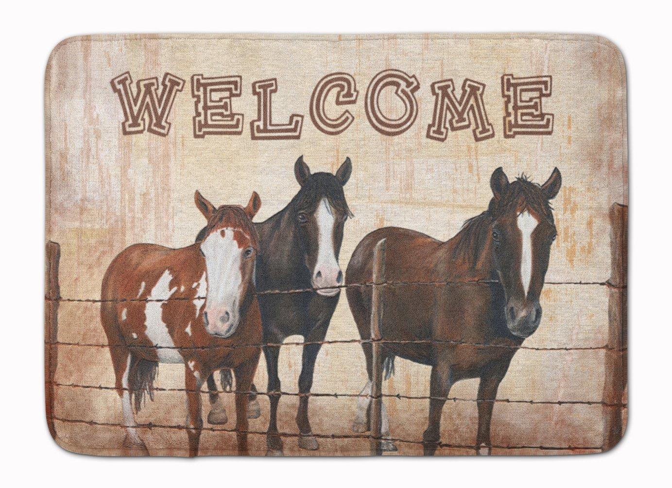 Caroline's Treasures Welcome Horses Floor Mat, 19' x 27' Multicolor