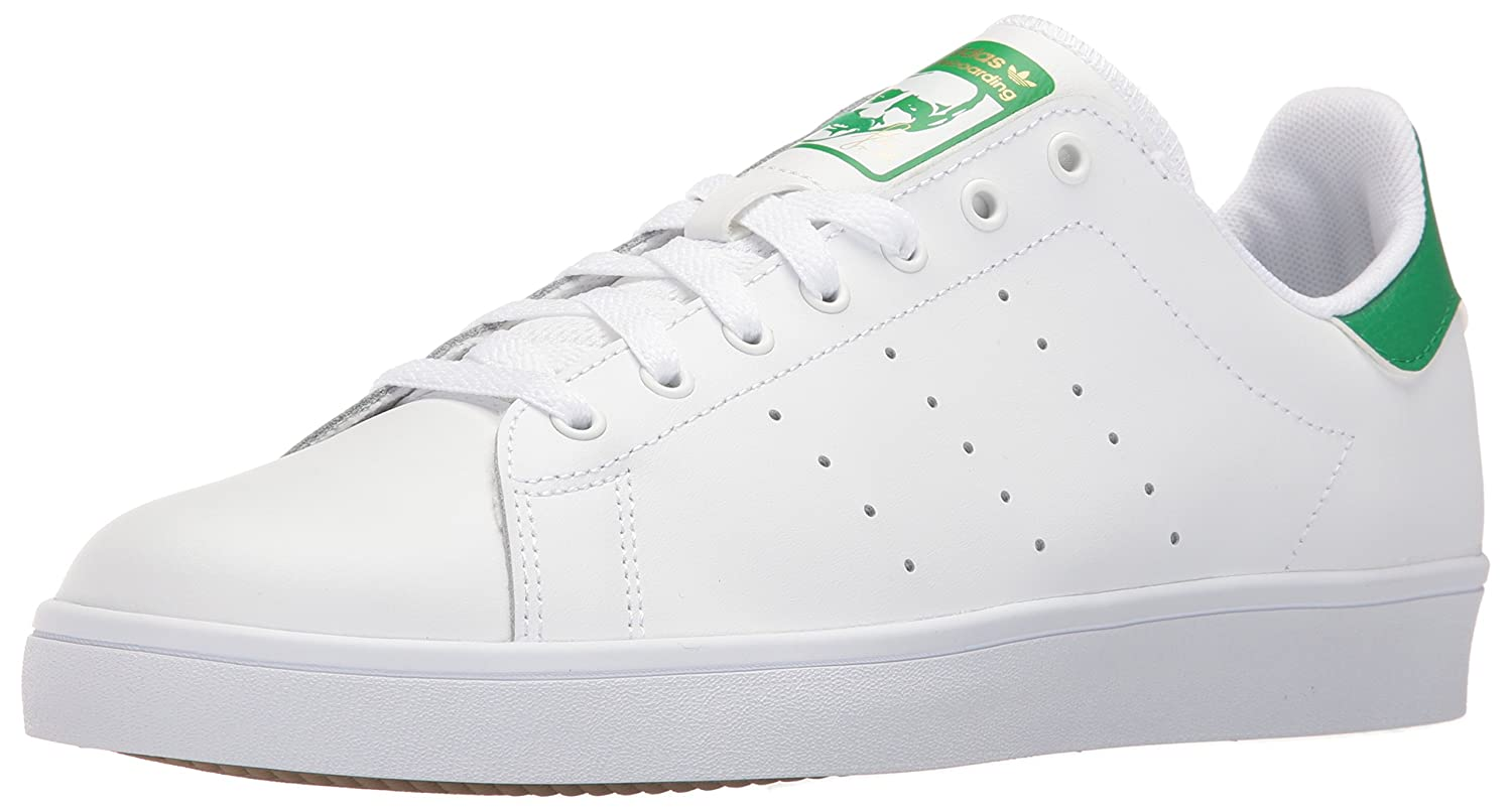 adidas Originals Men's Stan Smith Vulc Shoes B019G2WZ0U 13.5 M US|White/White/Green