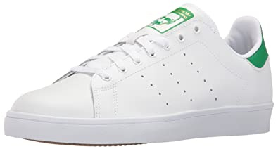sports shoes 91fef b5ab5 adidas Originals Men's Stan Smith Vulc Running Shoe, White/Green, ...