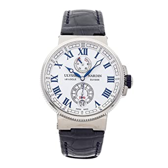 70315b9e3697 Image Unavailable. Image not available for. Color  Ulysse Nardin Marine  Mechanical (Automatic) White Dial Mens Watch 1183-126 40