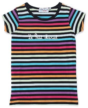 2aa491343e5dd Little Marcel Massilotte - T-Shirt Manches Courtes - Mixte Enfant -  Noir/Rayés