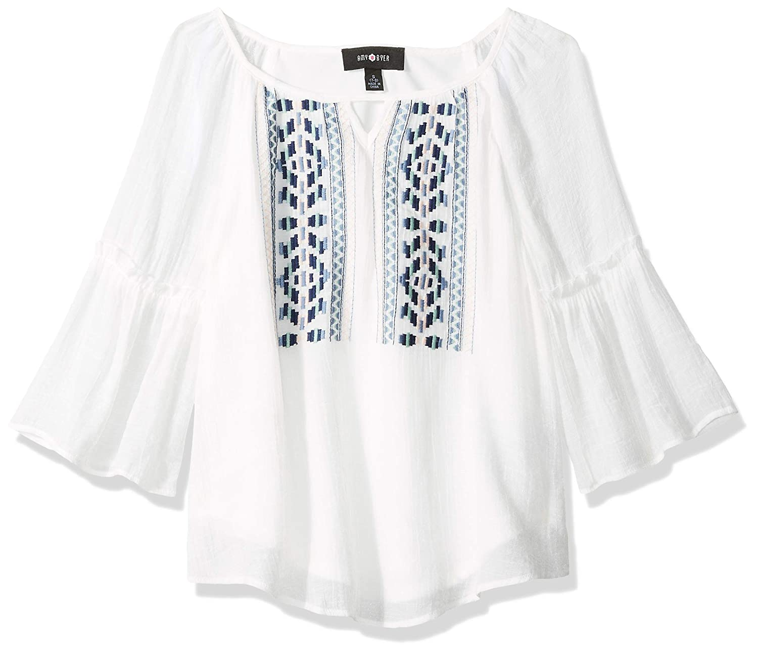 09001b570b17aa Amazon.com: Amy Byer Girls' Embroidered Peasant Top: Clothing