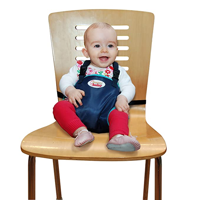 Navy Snazzy Baby My Baby/'s Own Deluxe Travel Chair