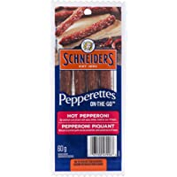 Schneiders Pepperettes On-The-Go Sausage Sticks, Hot Pepperoni, 60 Gram