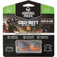 KontrolFreek Call of Duty: Black Ops 4 Grav Slam para mando de XBOX ONE | Performance Thumbsticks | 1 convexo con gran altura, 1 de altura media convexa | Gris /Naranja