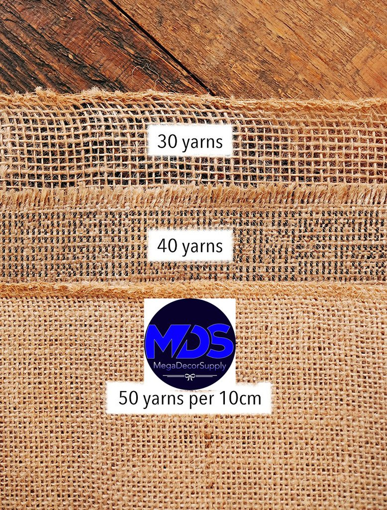 mds Pack Of 10 Wedding 12 x 108 inch Burlap Table Runner Natural jute Country Vintage For Wedding Banquet Decoration – Natural jute Burlap by mds (Image #6)