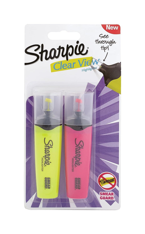 Sharpie-Evidenziatore Clearview Stick, colori assortiti, confezione da 4 Clearview Stick giallo Newell Rubbermaid 1953447