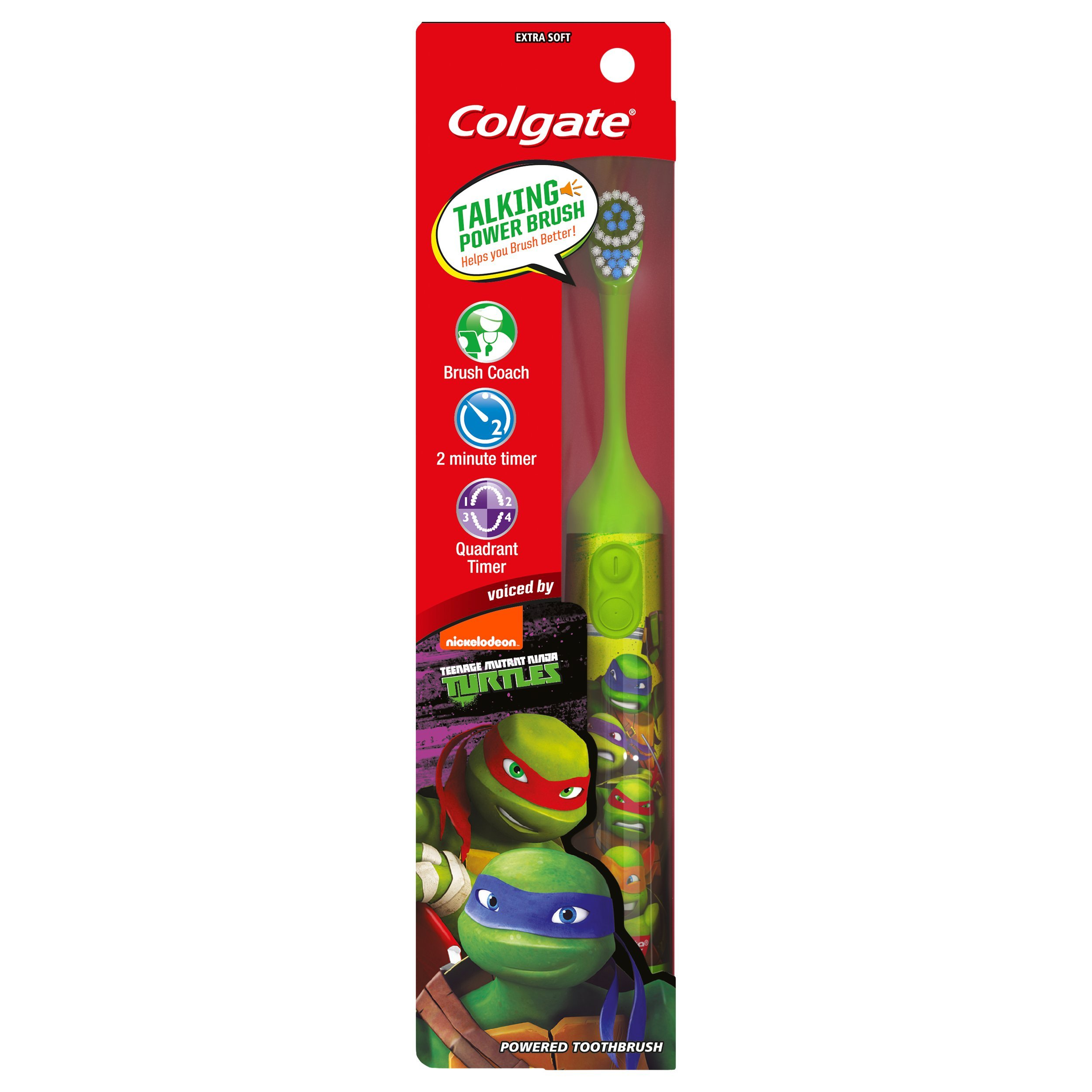 Colgate Kids Interactive Talking Toothbrush, Teenage Mutant Ninja Turtles by Nickelodeon (Image #1)