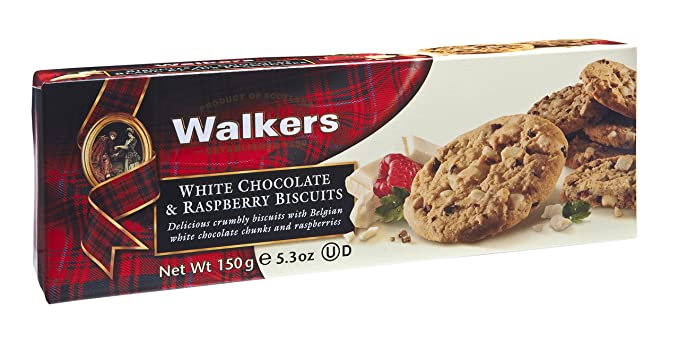 Walkers Shortbread Limited Galletas con Trozos de Chocolate y Frambuesa - 150 gr