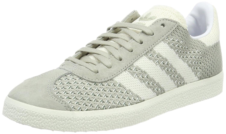Grey (Sesame Off White Trace Green) adidas Men's Gazelle Primeknit Low-Top Sneakers