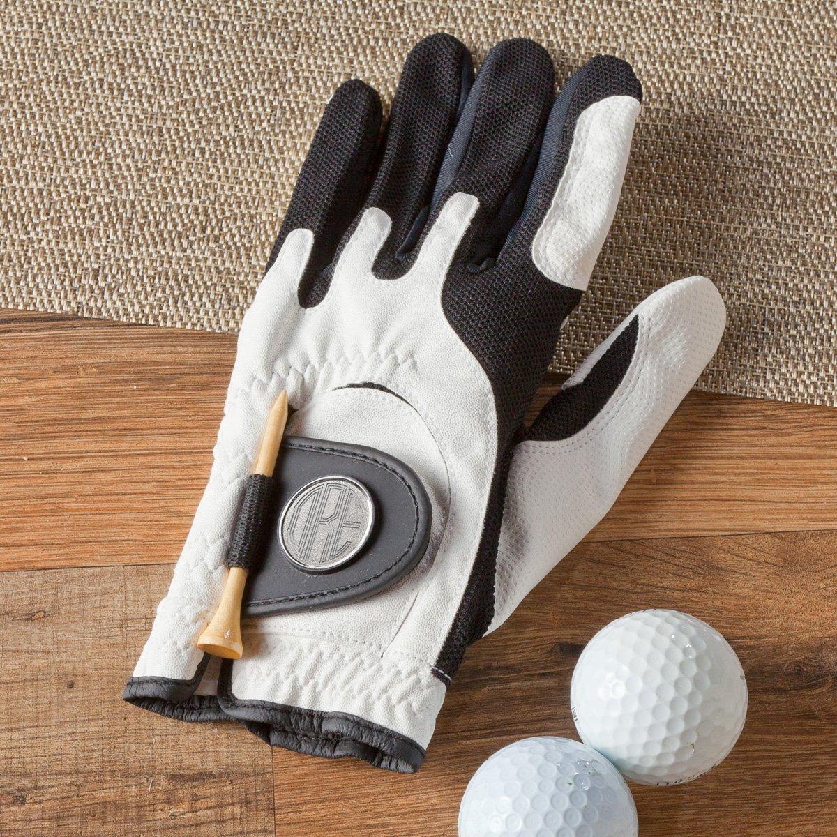 Personalizedゴルフグローブ – Includesモノグラムボールマーカー – モノグラムゴルフグローブ   B01C6353PU