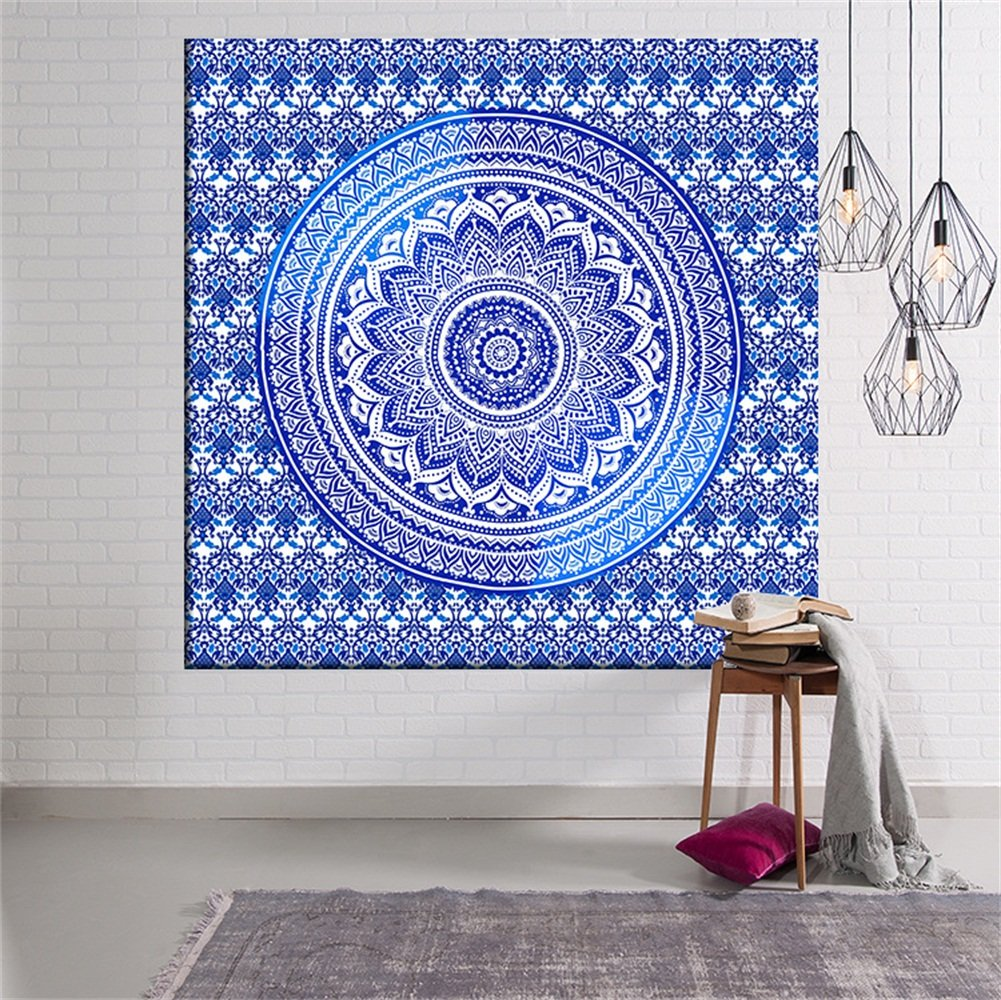 Beautiful Sea Wall Hanging Tapestry, Decor Tapestries, Print Painting Tapestry, Handmade Badsheet Blanket, Bedding Bedspread, Picnic Beach Sheet, Table Cloth, Decorative Wall Hanging, 59x51 Inch, By Eleoption