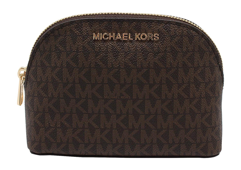 Michael Kors Jet Set Travel Large Pouch Cosmetic Bag Brown Signature