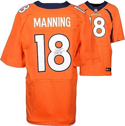 Peyton Manning Denver Broncos Autographed Nike Elite Orange Jersey -  Fanatics Authentic Certified - Autographed NFL 0aaee81c2