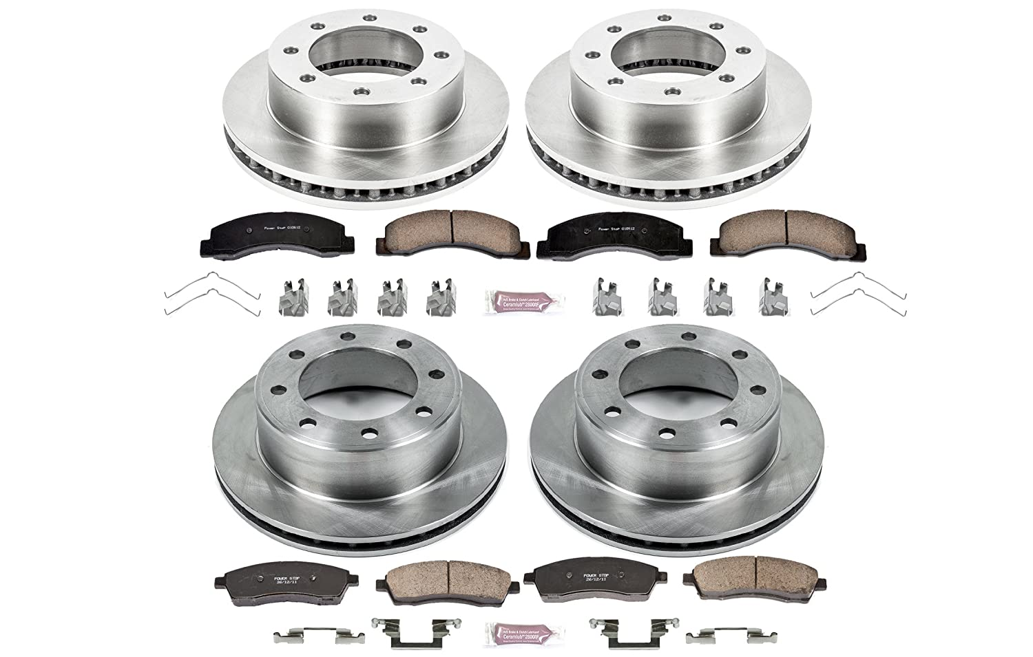 Autospecialty KOE1887 1-Click OE Replacement Brake Kit Power Stop