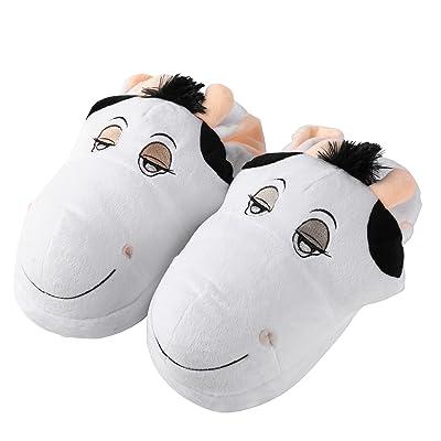 Aerusi Parent-children Soft Plush Animal Upper House Home Spa Bedroom Slipper