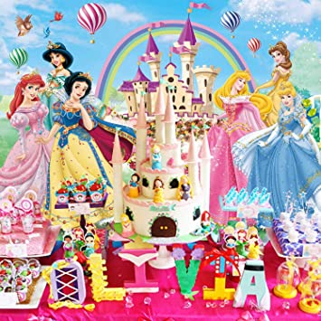 Disney Princess Birthday Banner Personalized Party Backdrop