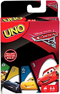 Disney - Cars Carte Uno, FDJ15 Mattel Italy s.r.l. Spielen / Raten