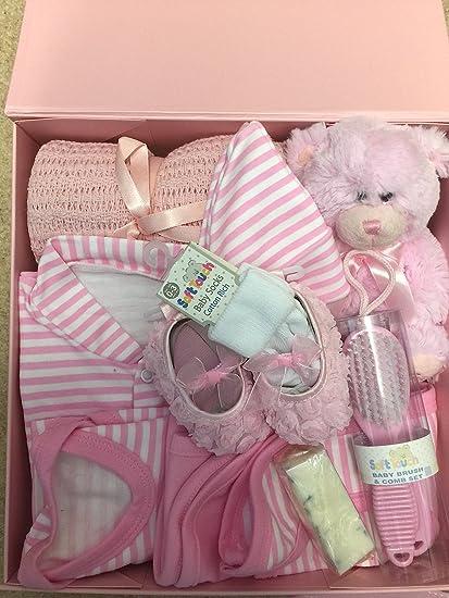 Nuevo bebé niña caja de regalo. Edad recién nacido. Contiene bebé ...