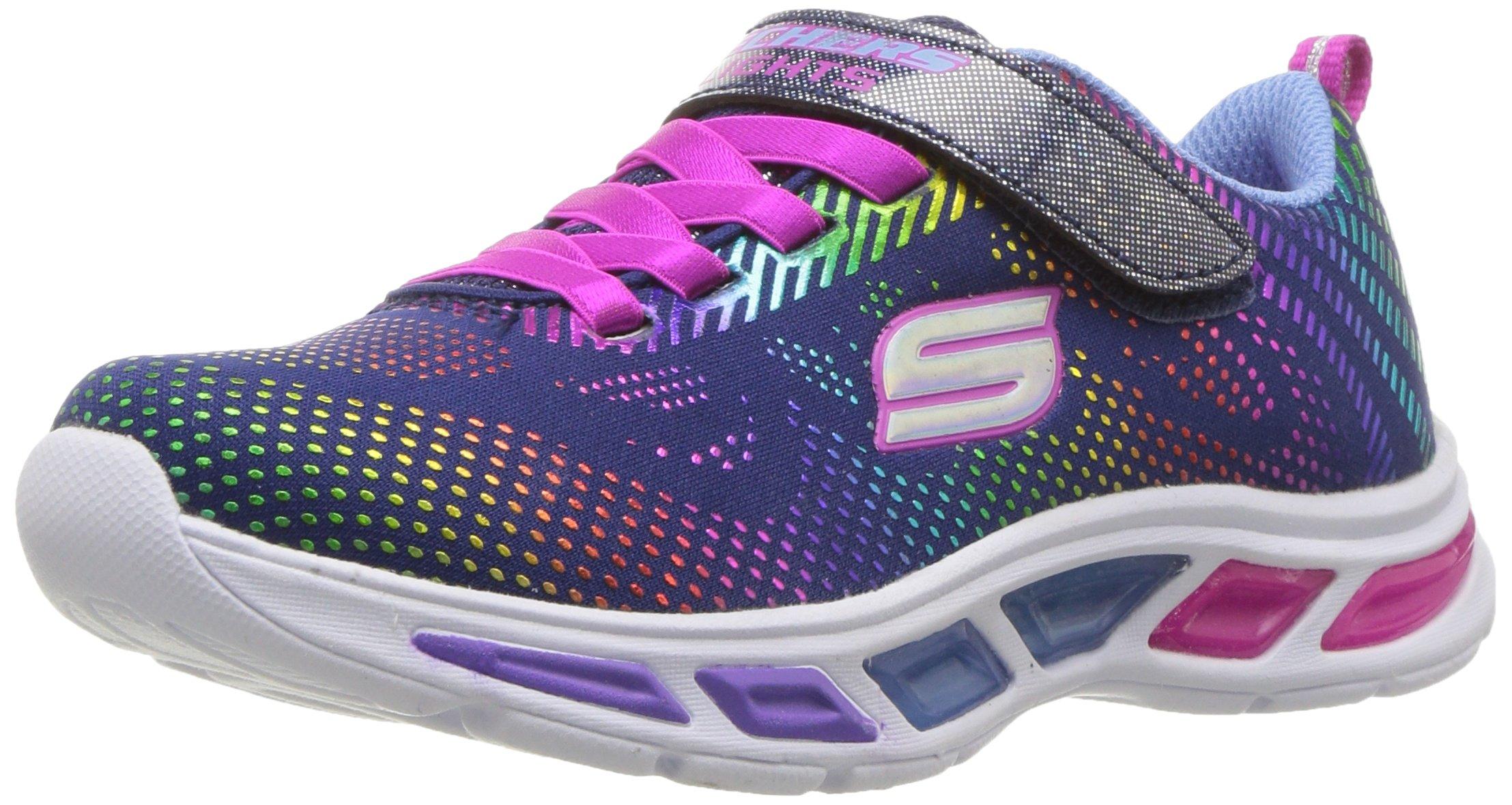 Skechers Kids Girls' Litebeams-Gleam N'DREAM Sneaker, Navy/Multi, 2.5 Medium US Little