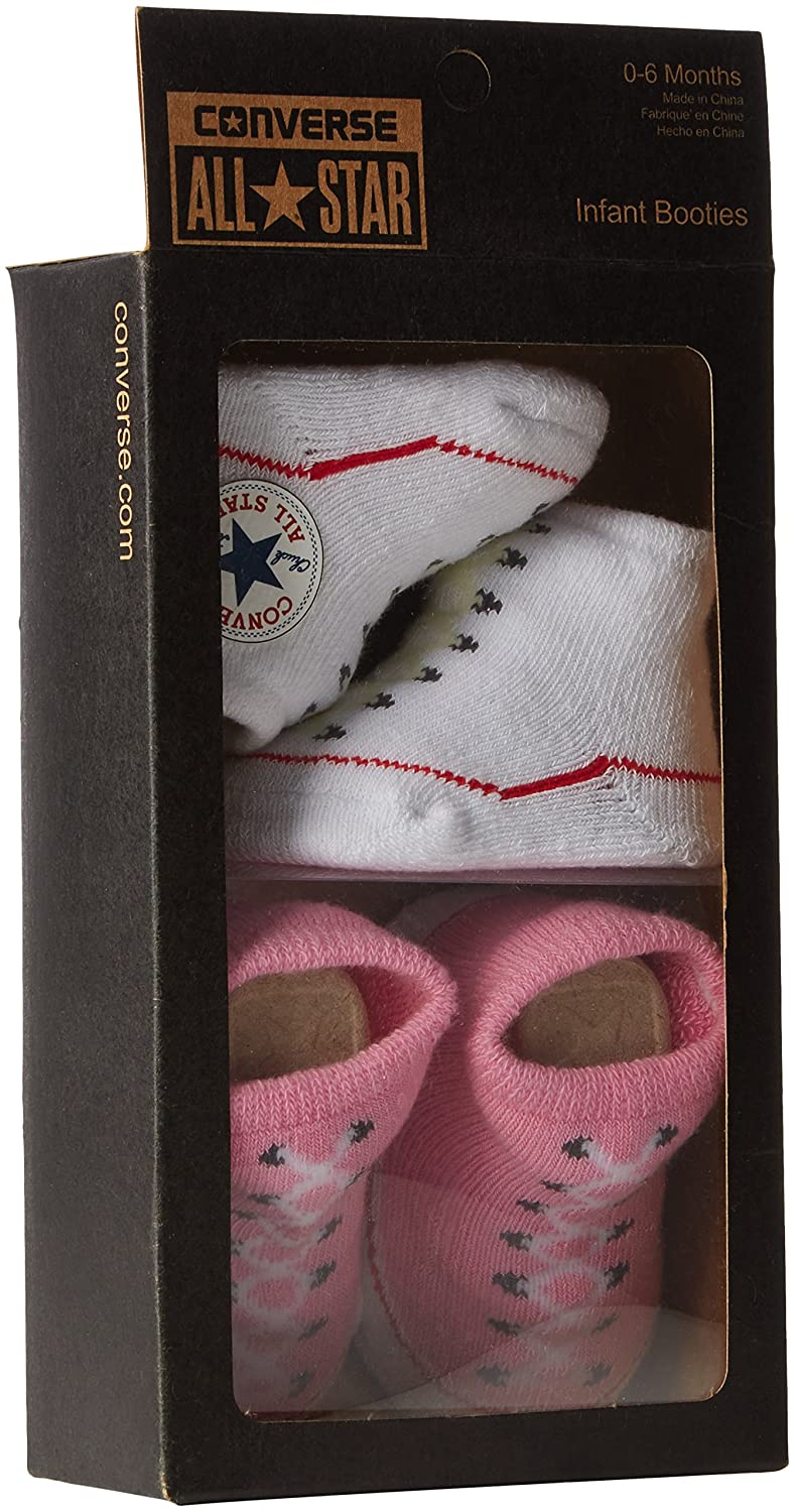 32151e17cb64 Converse Baby-Girls 2 Pack Booties Socks  Converse  Amazon.co.uk  Clothing