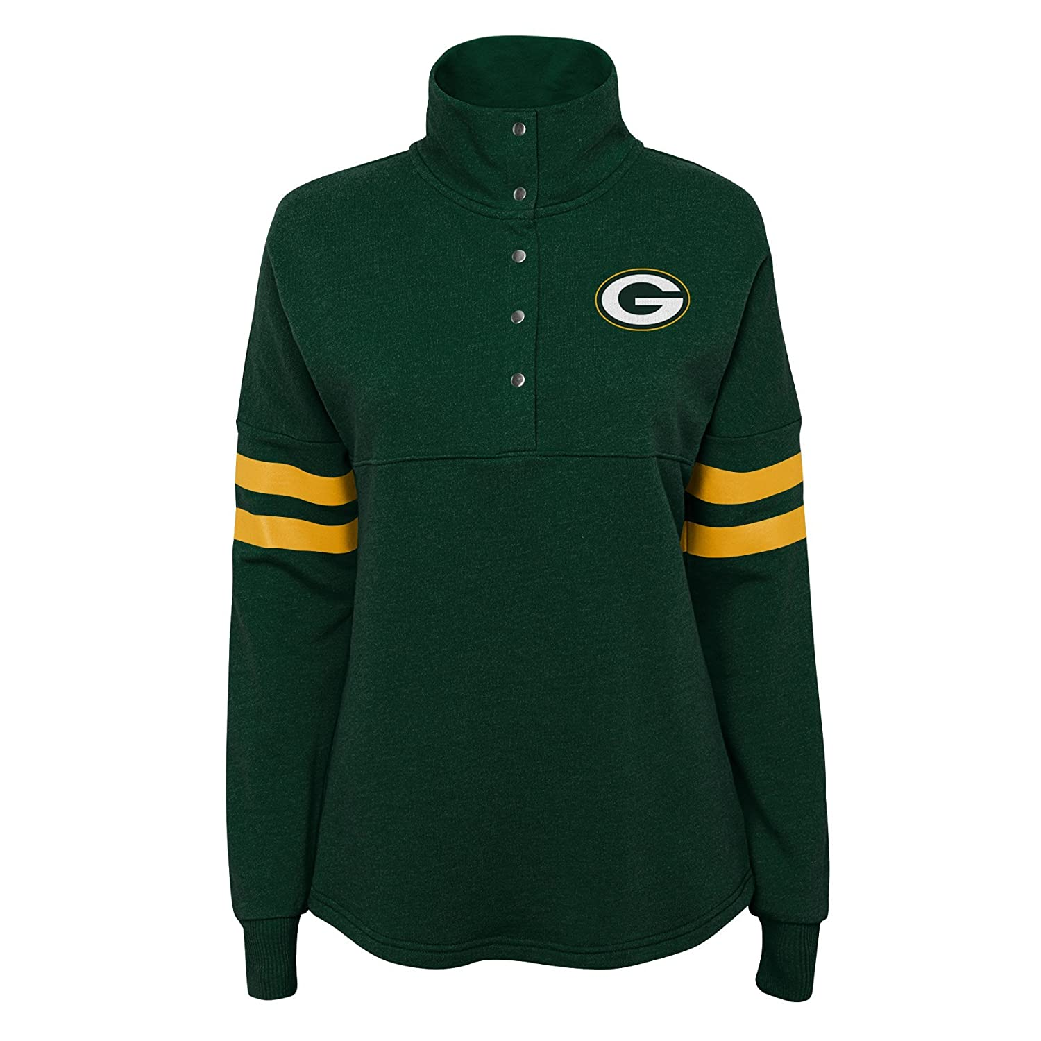 Outerstuff NFL NFL Green Bay Packers Juniors Classic Throw Varsity 1//4 Snap Pullover Top Hunter Green Juniors Small 3-5