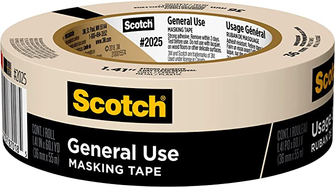 3 M Scotch 2025 36 C 1 41 Inch By 60 1 Yards Masking Tape For Basic Painting 1 Roll By 3 M Garten
