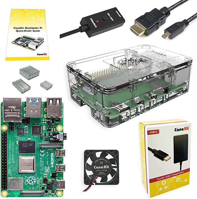 Amazon.com: CanaKit Raspberry Pi 4 4GB Basic Starter Kit with Fan (4GB RAM): Computers & Accessories