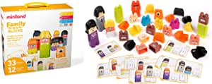 Miniland Family Diversity Blocks Game, 3-6 Years, 1-6 Players, Preschoolers Communicate Respect for All Families, Empathy, Cultural and Racial Inclusion, Build Self Esteem, Build Block Families