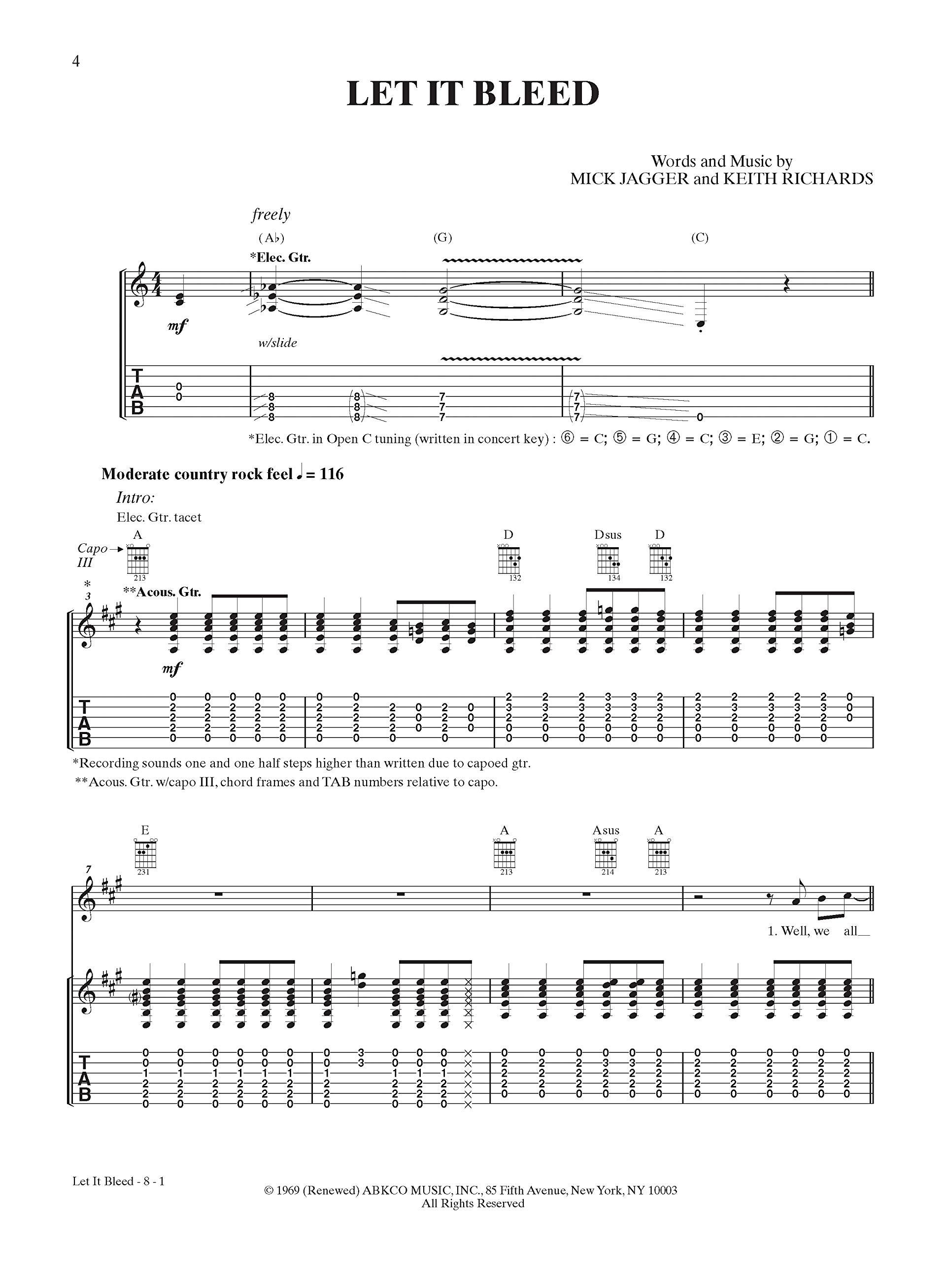 Let it Bleed: Guitar Tab Classic Album Edition Gtab: Amazon.es ...