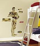 RoomMates RMK1591GM - Pegatinas de pared, diseño C3PO gigante, 11 elementos