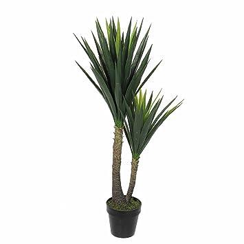 Mica Decorations Künstliche Yucca Palme   Yuccapalme Im Kunststofftopf   H  120 X D 60cm