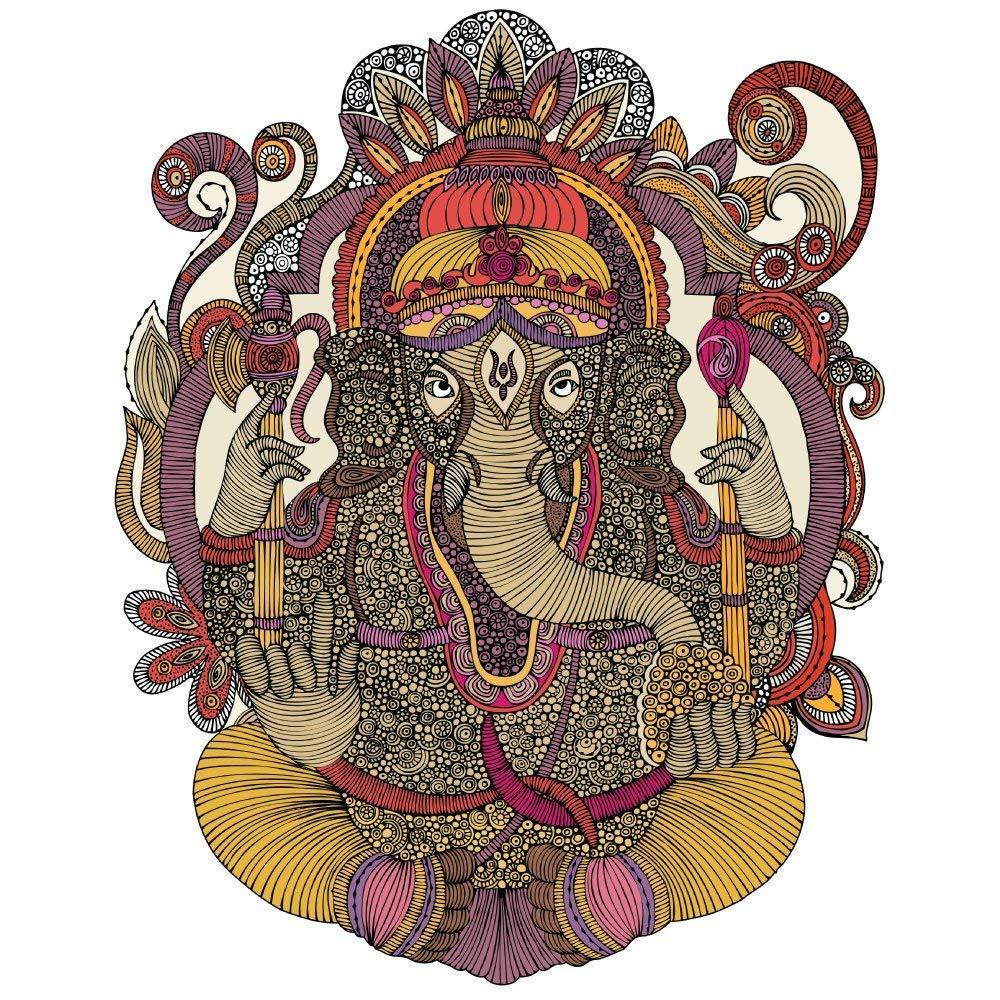 MyWonderfulWalls Ganesha Wall Sticker Decal by Valentina Harper (M)