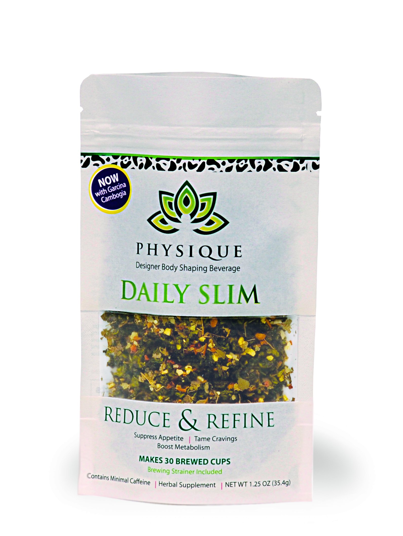 Herbal Tea Weight Loss Cleanse: Daily Slim Detox Tea for Natural Weight Loss - Slimming Diet Aid Tea with Appetite Suppressant - Metabolism Booster and Fat Burning Supplement -Over 150 Servings - 8 oz by Physique