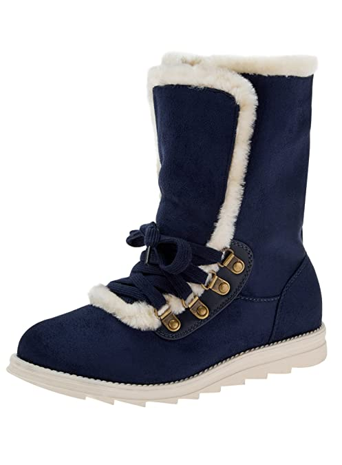 oodji Ultra Women's Warm Boots With Contrast Details: Amazon.co.uk: Shoes &  Bags