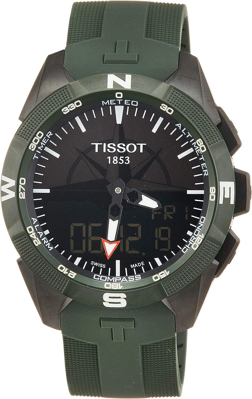 Tissot T-TOUCH SOLAR 2 TITAN GRÜN SILIKONBD T110.420.47.051.00 Cronógrafo para hombres