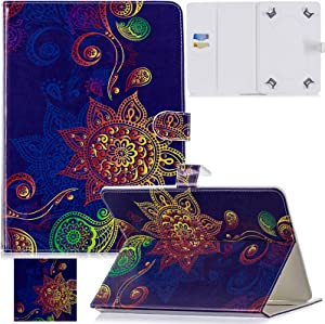 Artyond Universal Case for 9.0-10.1 Inch Tablet, Premium PU Leather Card Slots Multi-Angle Stand Case for Apple iPad/Samsung/Kindle/Huawei/Lenovo/Android 9.7 9.6 10.1 inch Tablet (Retro)