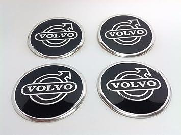 Embellecedor Volvo 4 adhesivos de 60 mm, de aluminio, para llantas, con logotipo, para tapar el buje: Amazon.es: Coche y moto