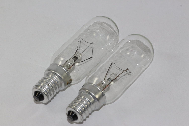 2 bombillas E14 de 40 W para campana extractora de horno, transparente 220 V - 240 V, T25: Amazon.es: Iluminación