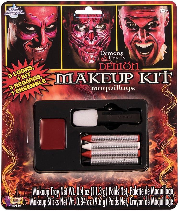Amazon Com Forum Novelties 80339 Demons And Devil Make Up Kit Standard Red Toys Games
