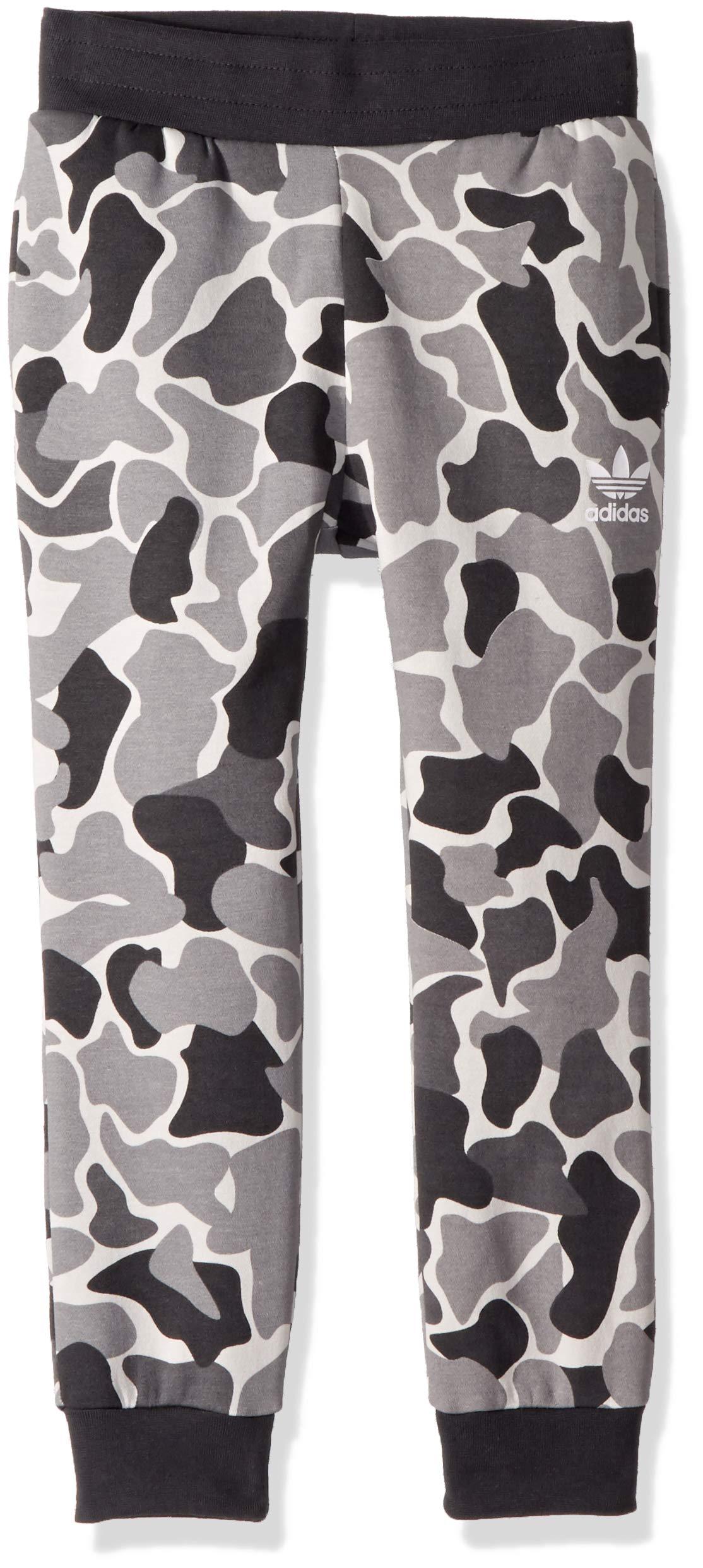 adidas Originals Boys' Little' Trefoil Camo Print Pants, Multi/Carbon, S