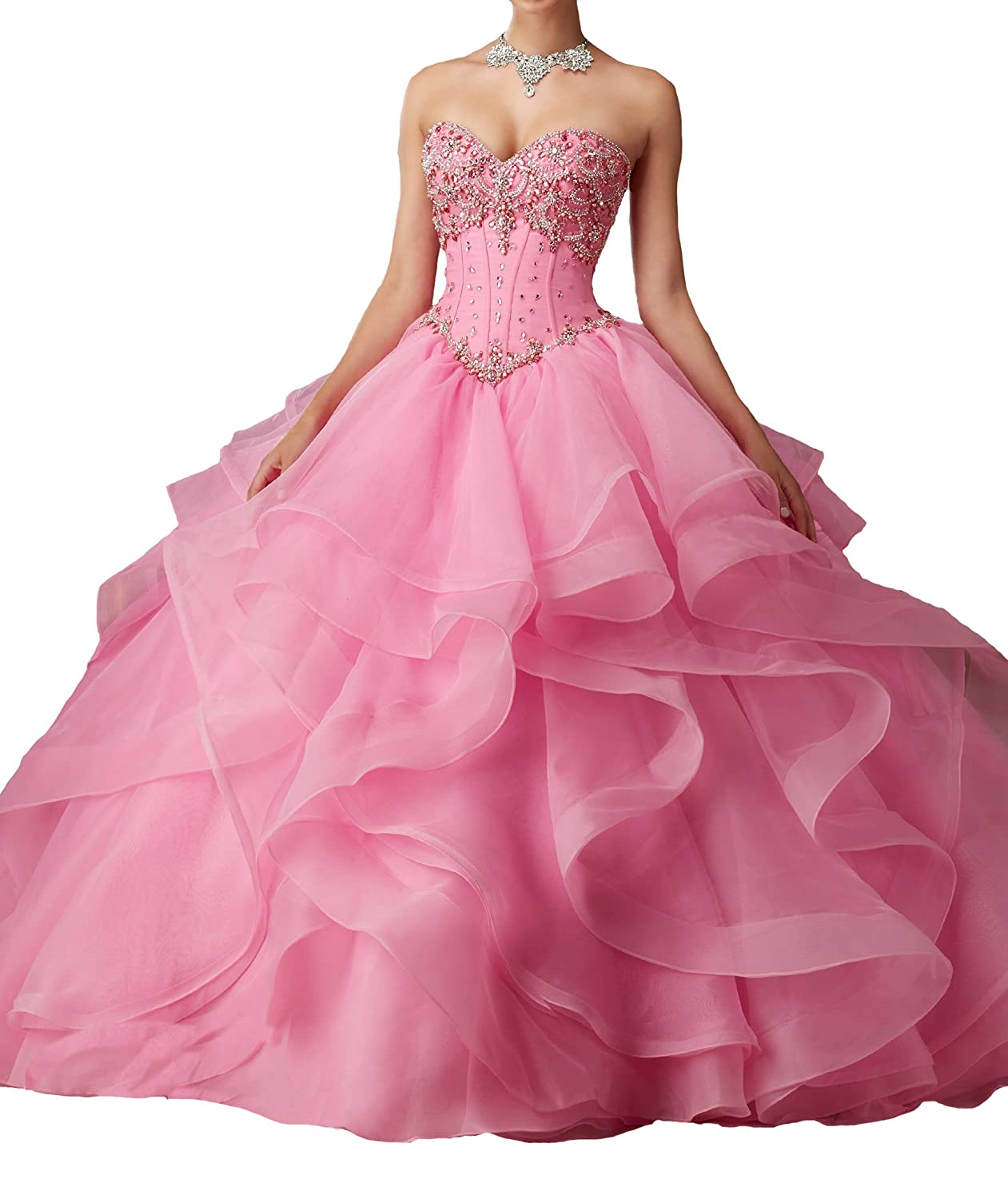 10ddbee7d7 HuaMao Women s Vestido De with Jacket Beading Party Quinceanera Dresses at Amazon  Women s Clothing store