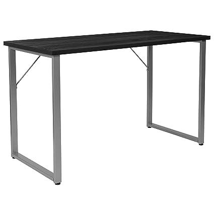 Amazon.com: Flash Furniture Harvey Black Finish Computer Desk with ...