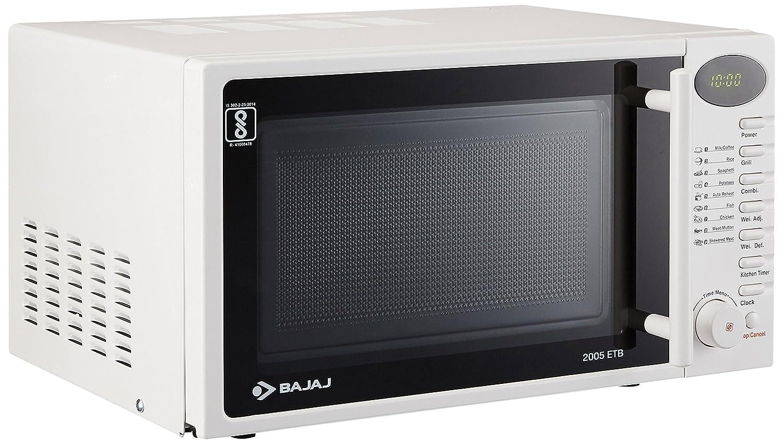 Bajaj 20 L Grill Microwave Oven 2005 Etb White Amazon Home