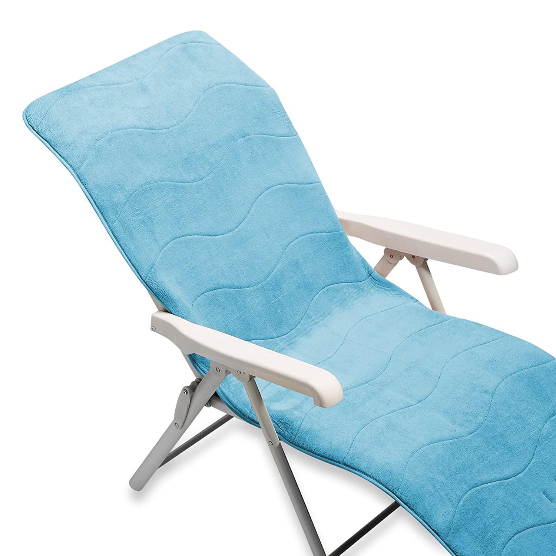 MICRODRY Memory Foam HD Lounge Cover Capri Blue Amazon