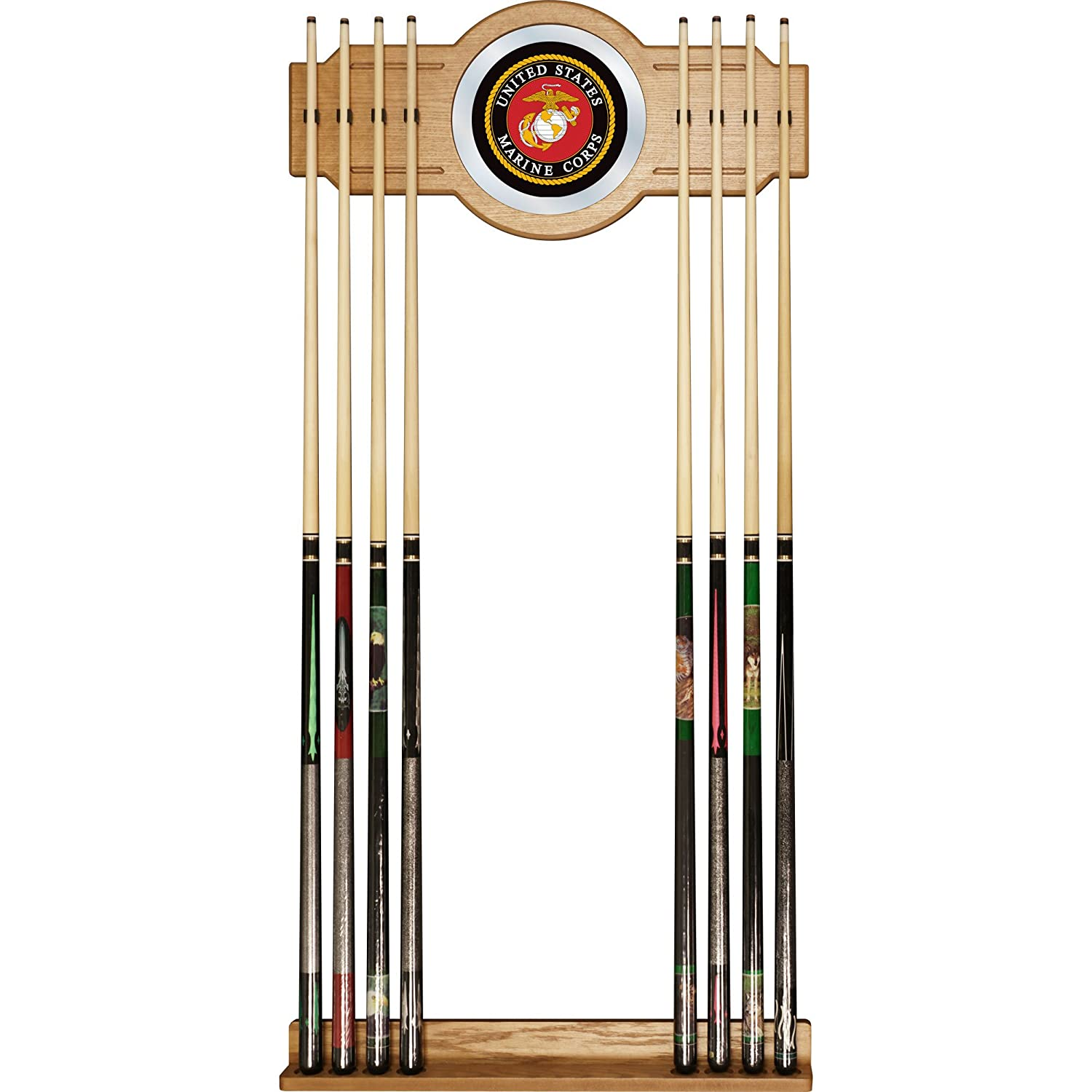 Amazon.com : United States Marine Corps Billiard Cue Rack With Mirror :  Marines Pool Cue : Sports U0026 Outdoors
