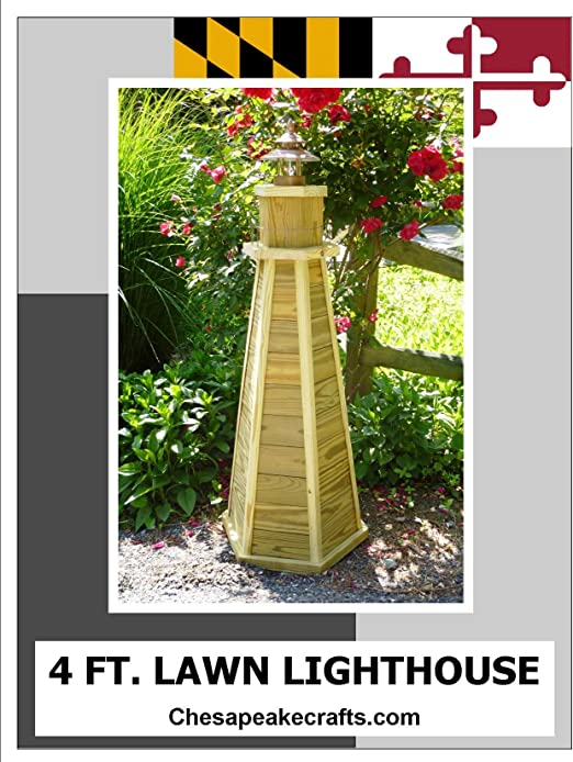 Amazon Com 4 Ft Lawn Lighthouse Woodworking Plans Diy