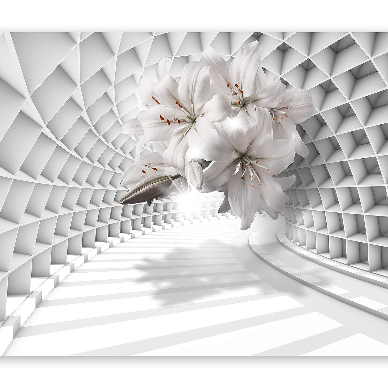 Murando - Fototapete 3D Optik 400x280 cm - Vlies Tapete - Moderne Wanddeko - Design Tapete - Wandtapete - Wand Dekoration - Blumen Lilien b-C-0206-a-a