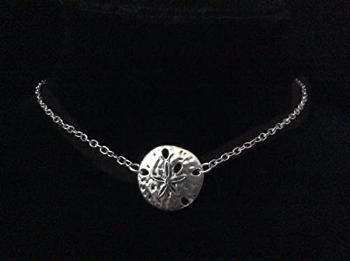 Handmade White Sand Dollar Silver Necklace